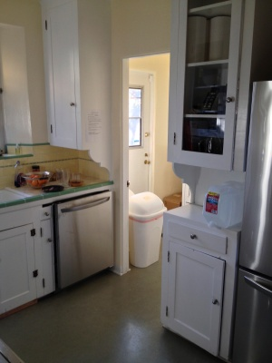 looking into laundry room