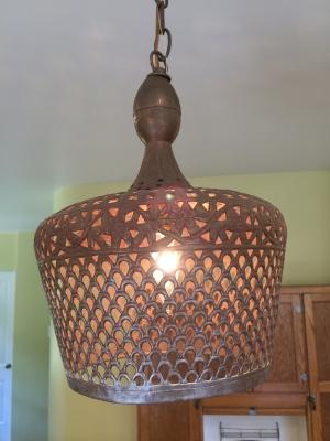 vintage bronze moroccan pendant light
