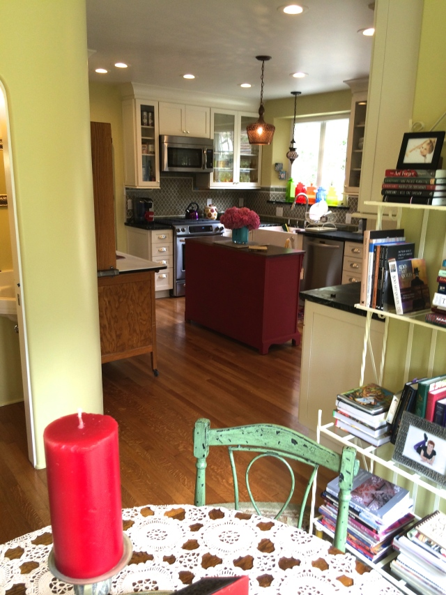 looking into kitchen from sunroom